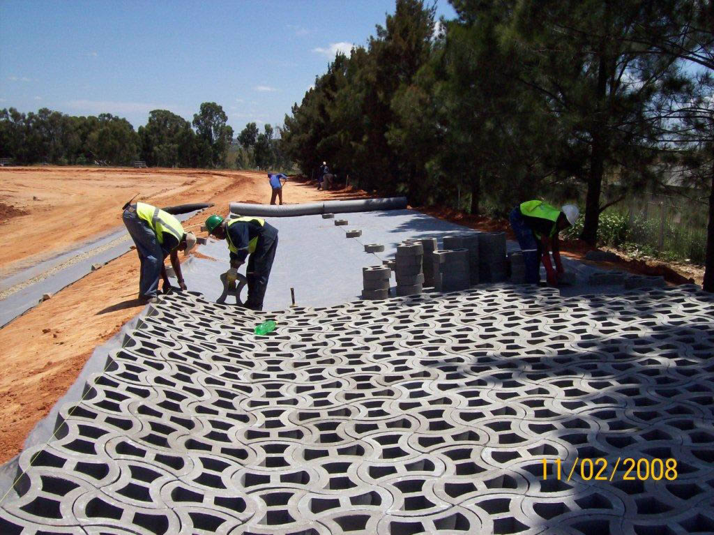 Permeable erosion control of a storm water channel