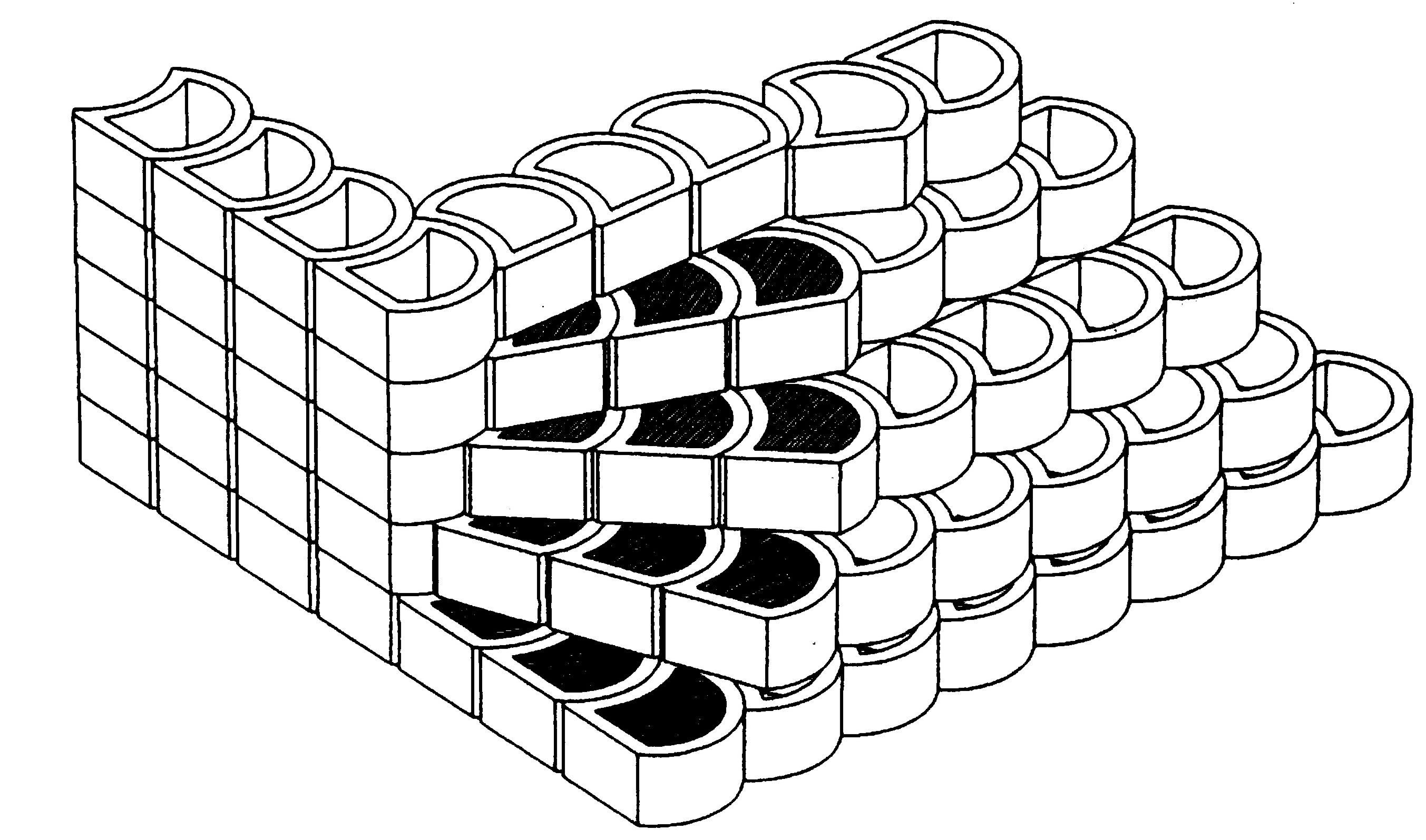 Terralite retaining block stair way