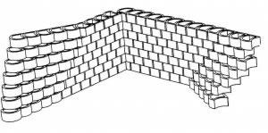 Terralite retaining block retaining wall