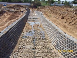 Riverbank Erosion Control with Retaining Blocks