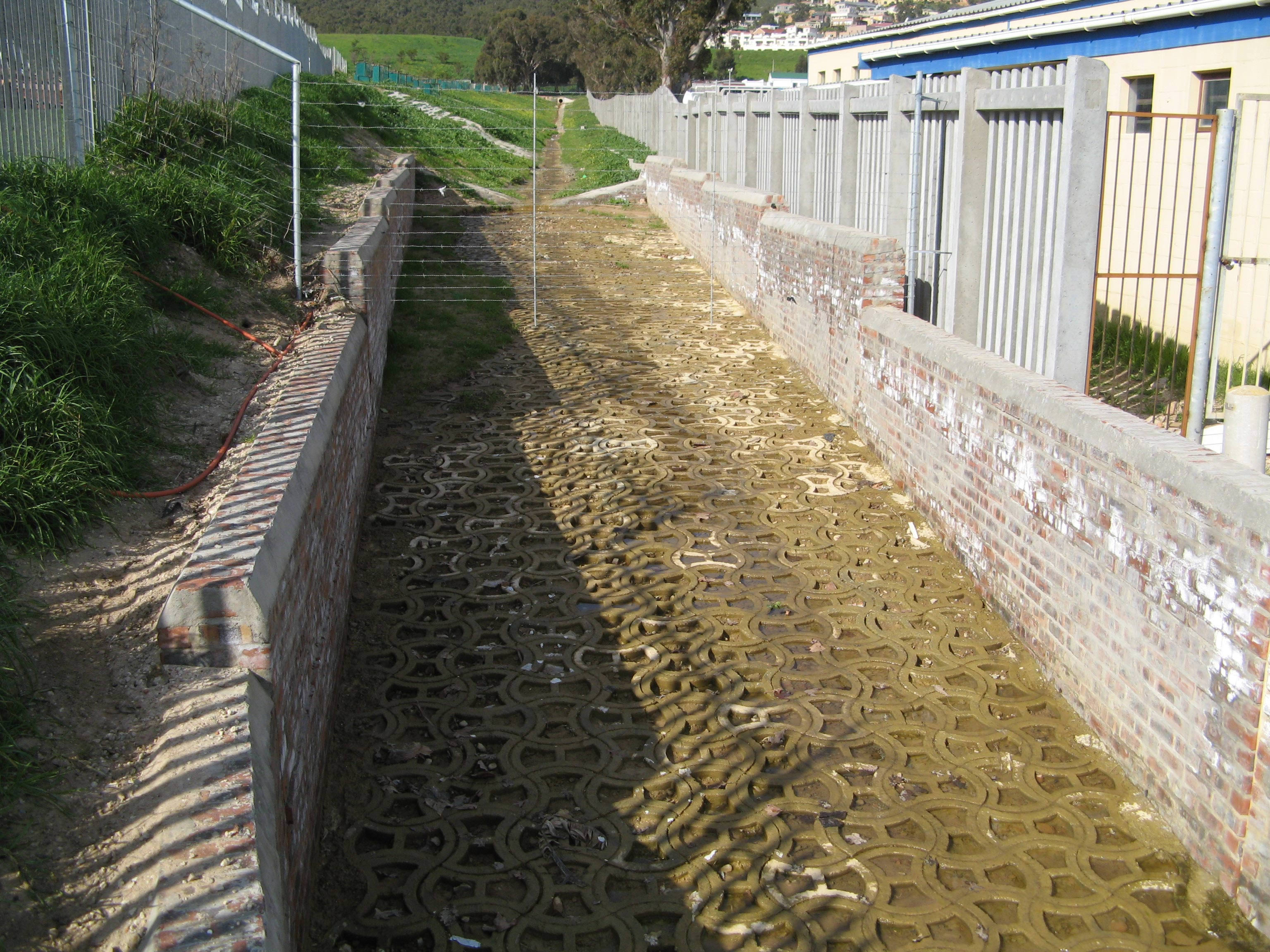 Storm Water Channel lined with Terraforce