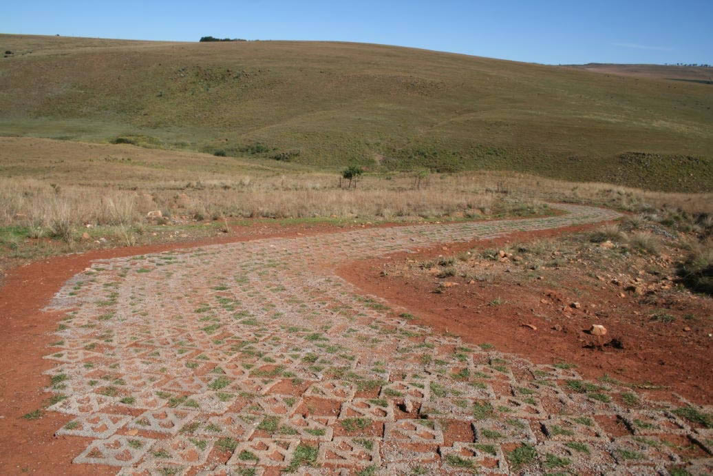 Rural Road Protected against Erosion