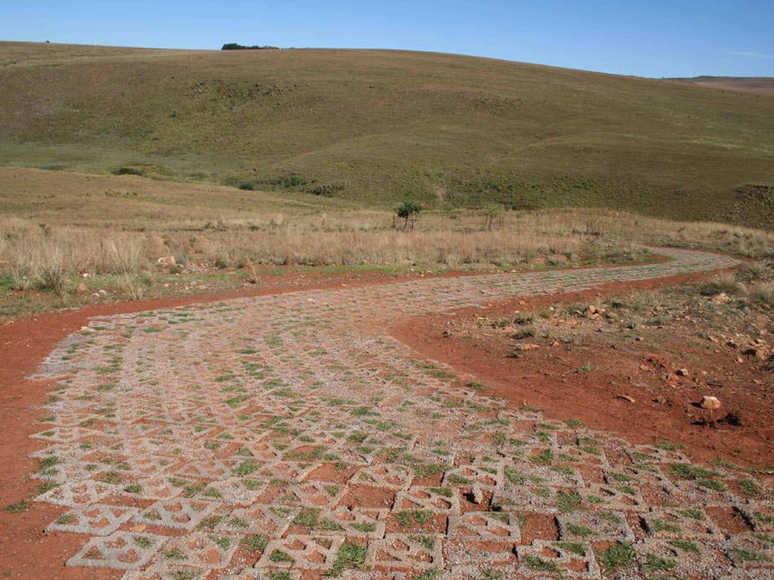 Rural Road Erosion Control with Terracrete Blocks