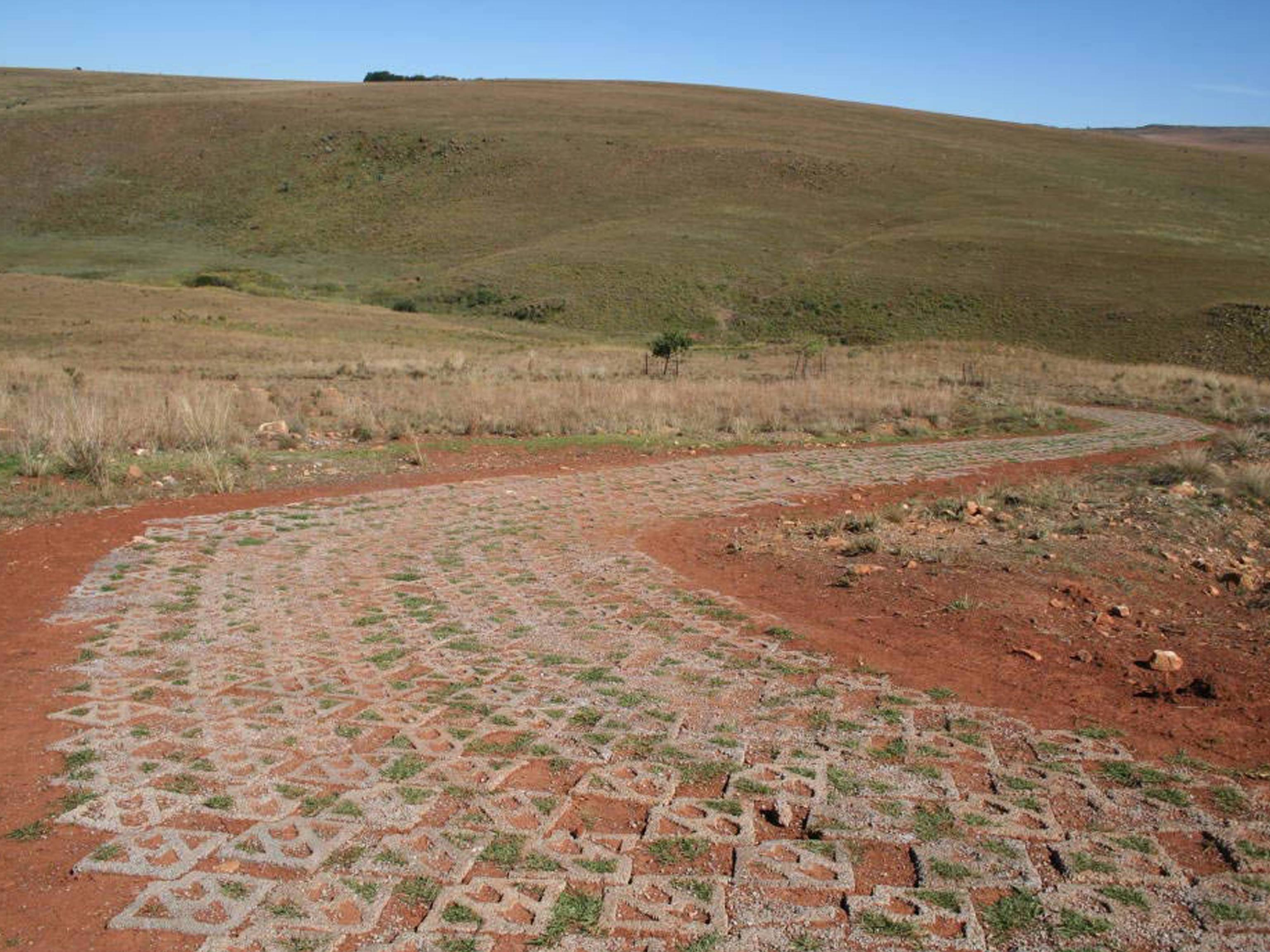 Rural Road Erosion Control with Terracrete Blocks