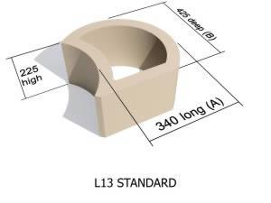 L13  smooth face retaining block