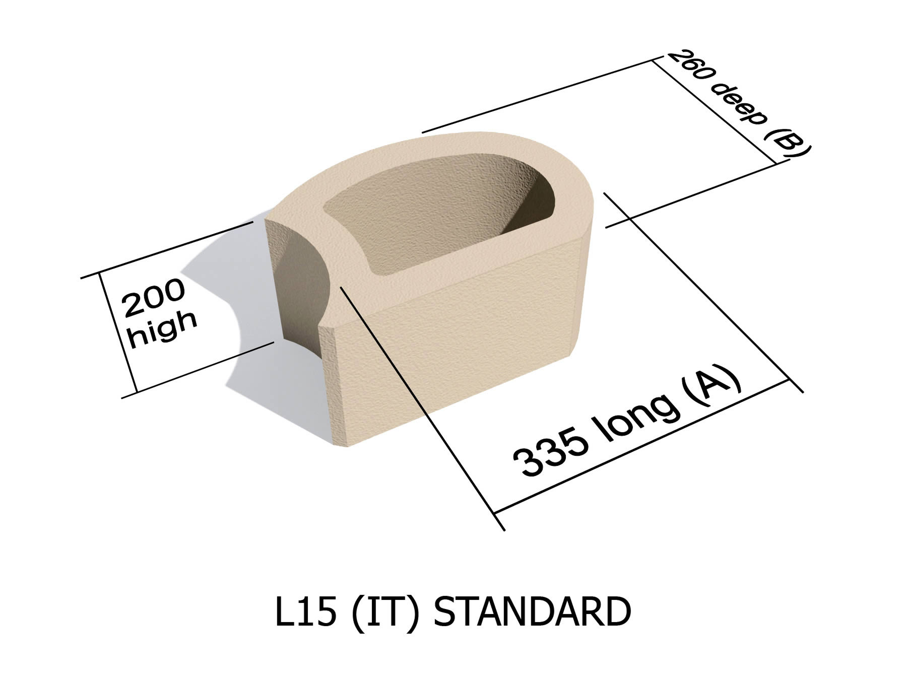 L15_IT smooth face retaining block