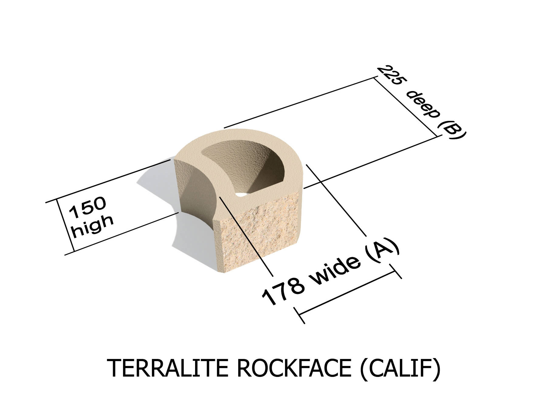 L36_CALIF rock face retaining block