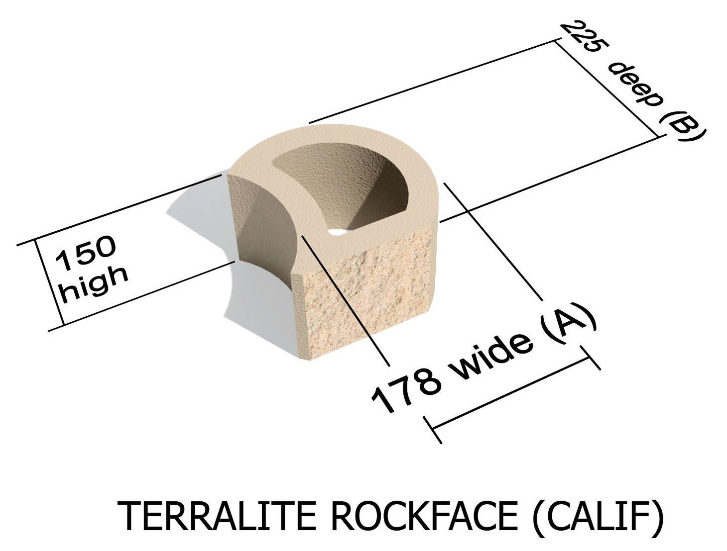 L36_CALIF rock face retaining block