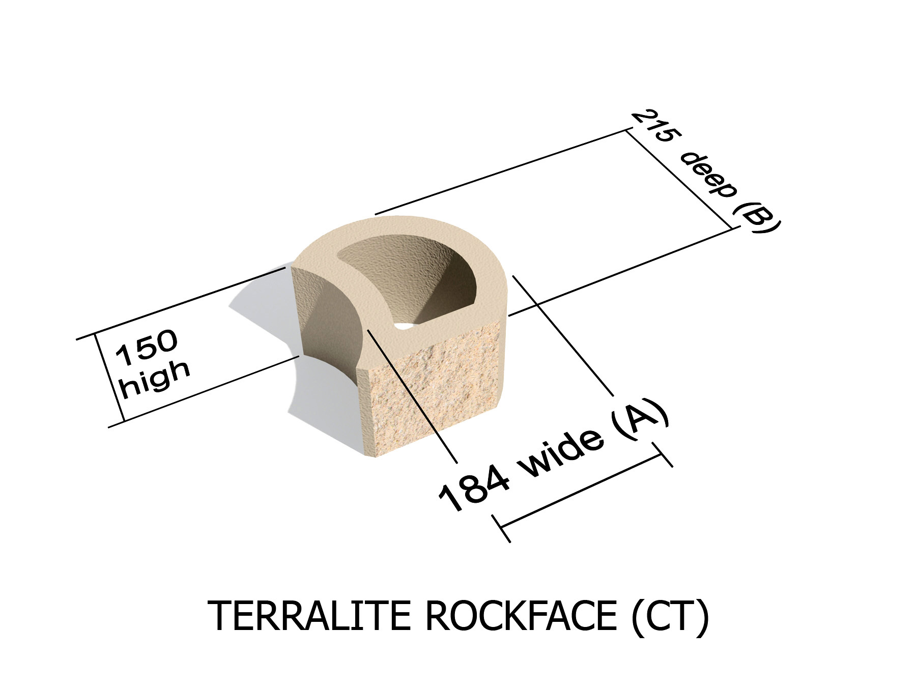 L36_CT rock face retaining block