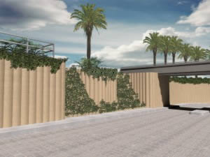 Open Horizontal & closed vertical surface structure