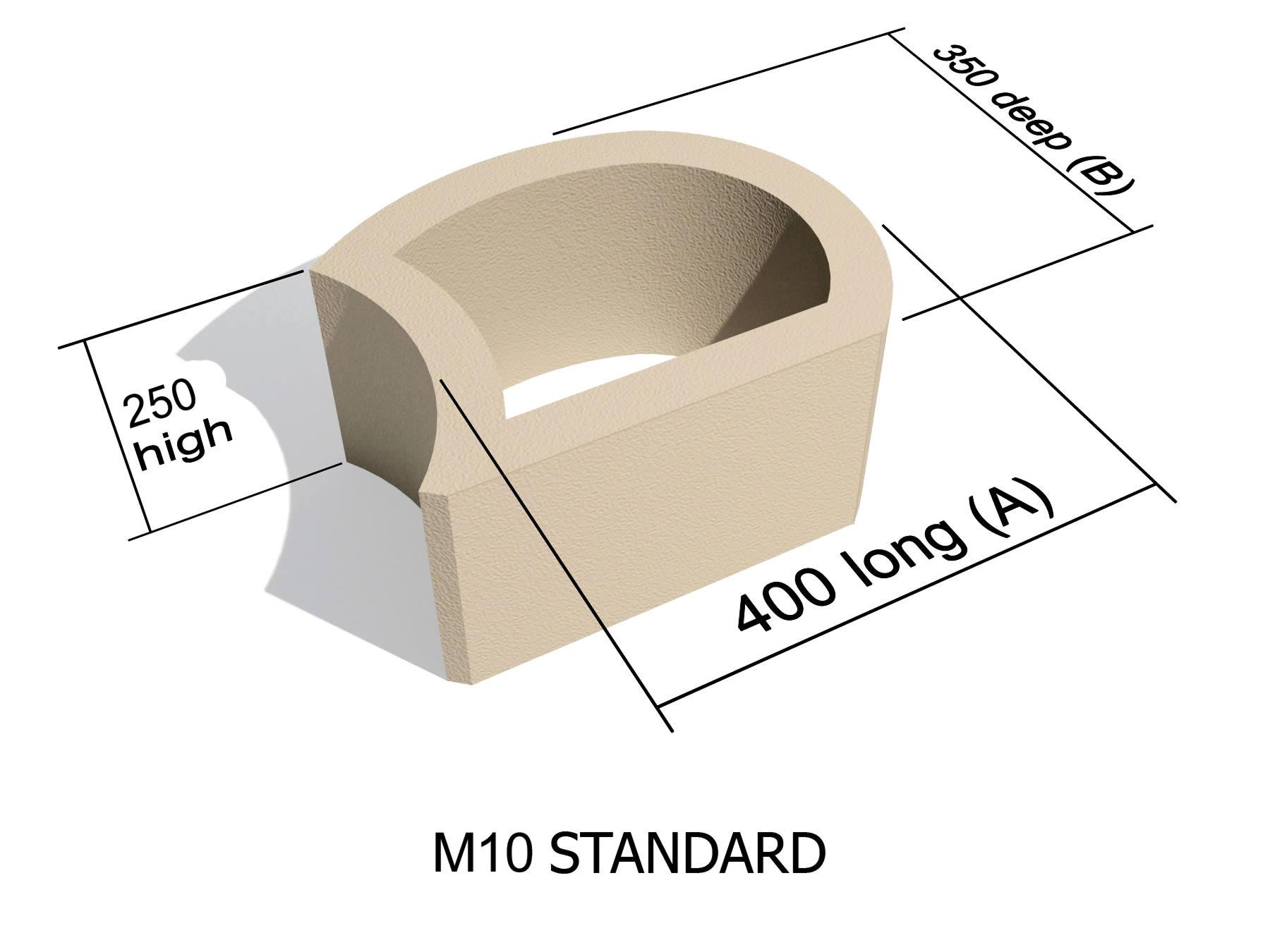 M10 smooth face retaining block