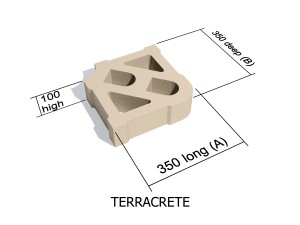 Terracrete hard lawn paving block