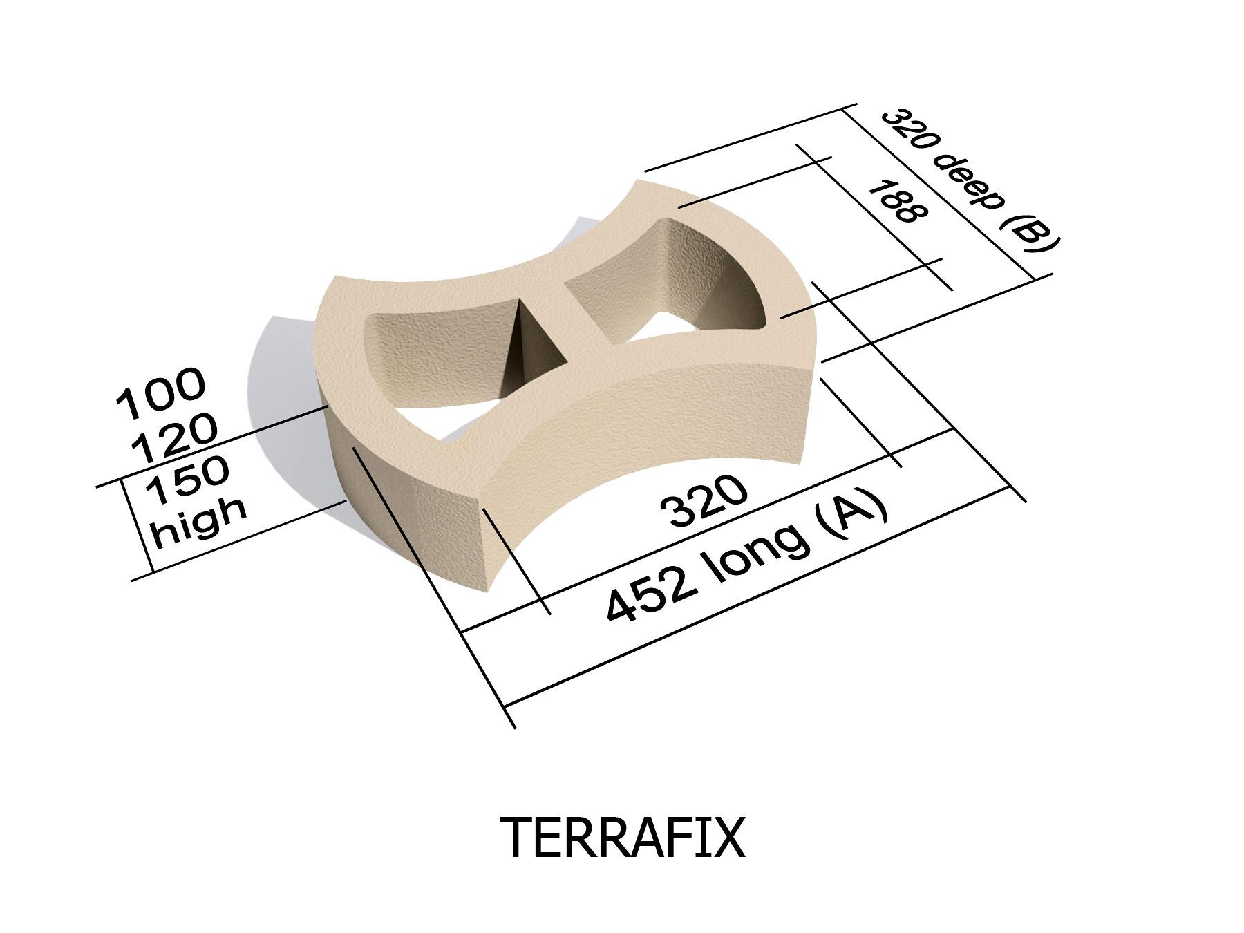 Terrafix erosion control retaining block