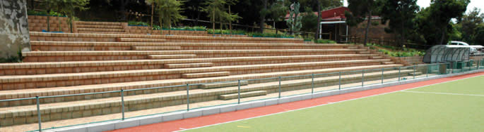 seating for a hockey pitch
