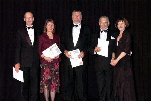 Recieving the Award in 2004
