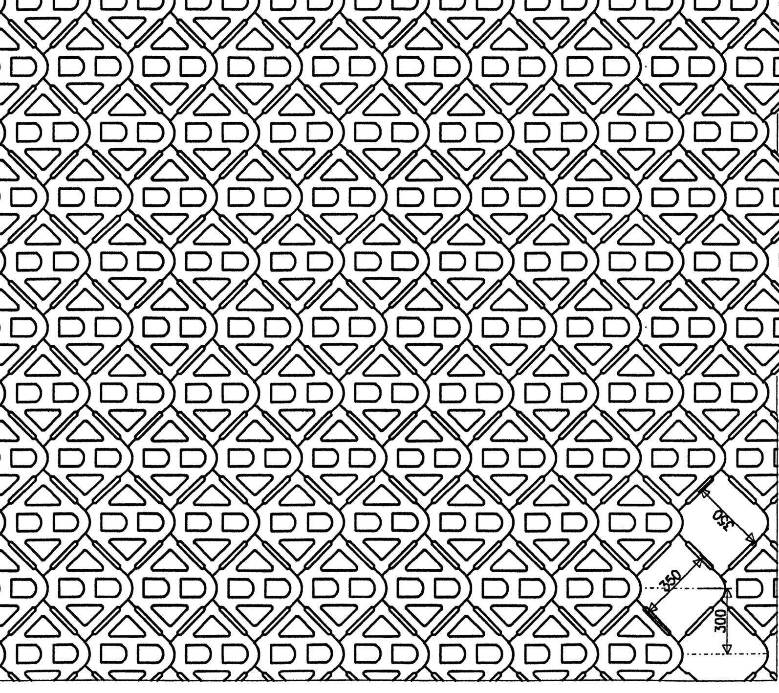 Terracrete hardlawn paver pattern