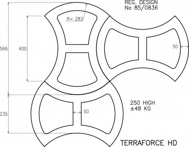 Terrafix erosion control block plan HD