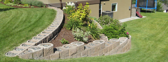Garden landscaping and terracing with Terraforce retaining blocks