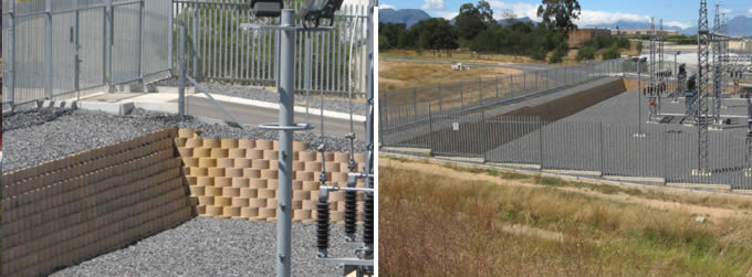 Erosion control and slope stabilisation at a power station