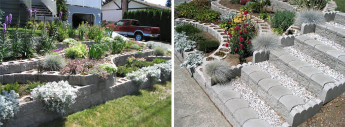 Terralite can be used to create flowerbed borders, tree rings, braai places, patio walls, driveway walls, garden landscapes and any light retaining needed around the property.