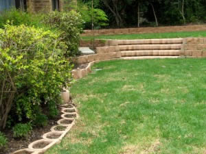 Attractive garden scaping