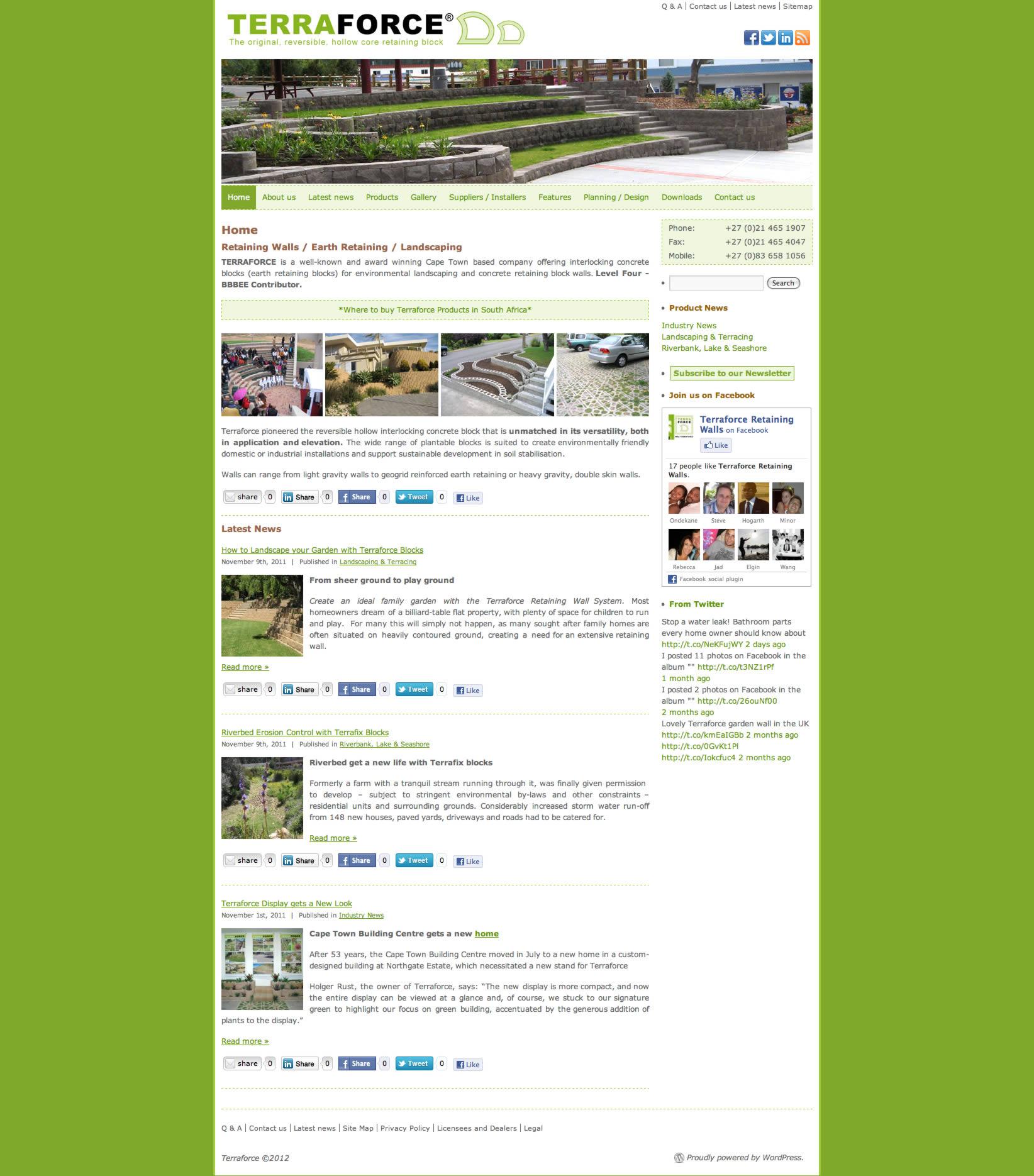 Terraforce web site