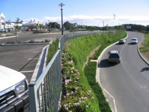 Designed by Terrasafe: Retaining wall at shopping mall
