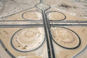 Arial view of interchange 24