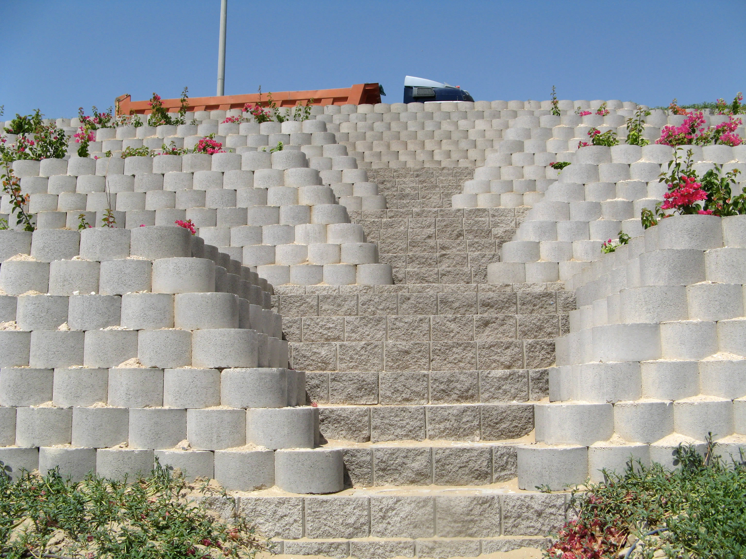 Detailed view of maintenance stairs