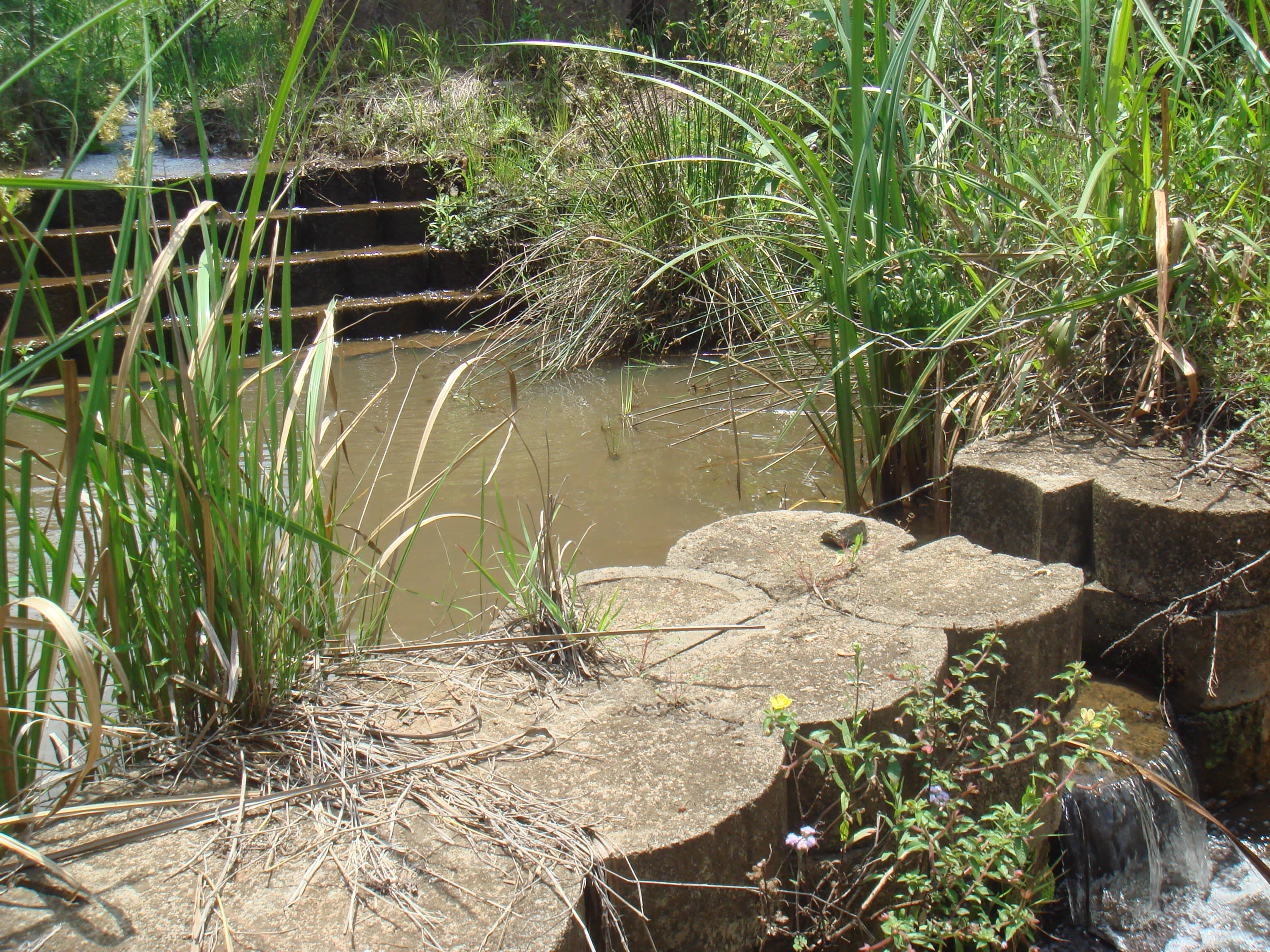 Weir and stilling basin – close-up