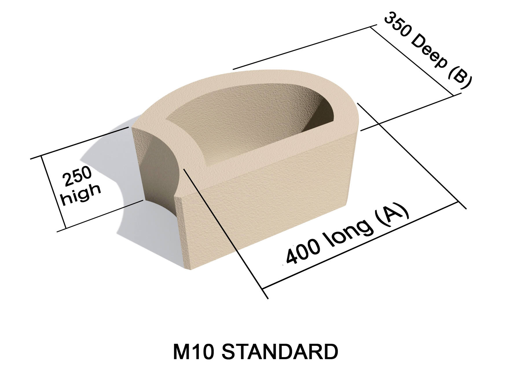 M10 Standard block