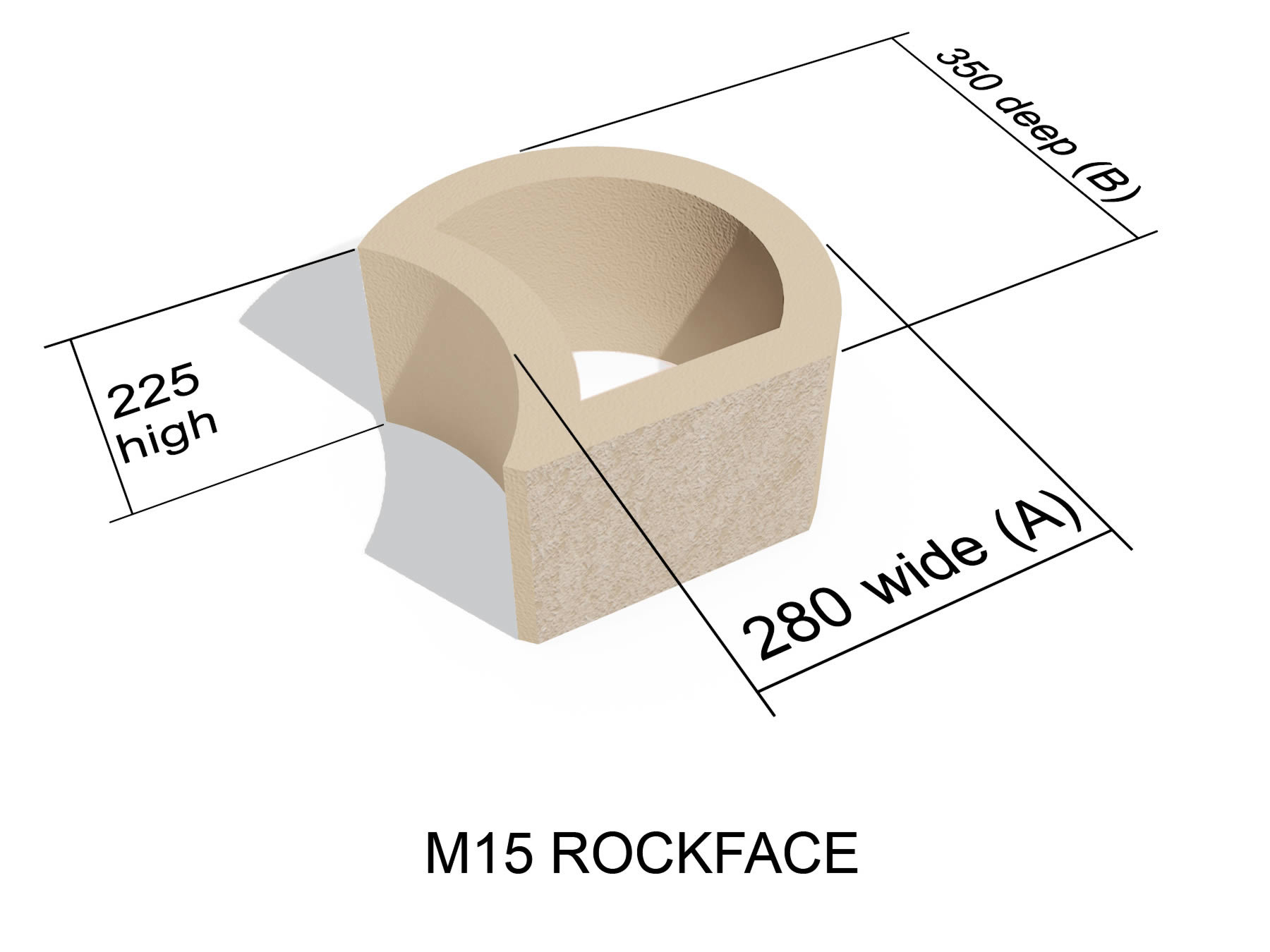M15 Rock Face block