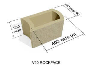 V10  Rock Face block