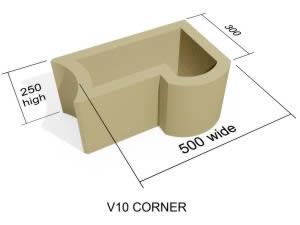 V10 Corner block Standard