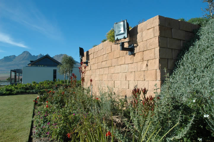 Terraforce blocks used to create garden shed