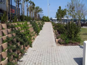 Functional walkways and terraces for staff traffic and relaxation
