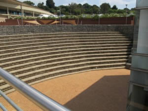 The seating arena as seen from front