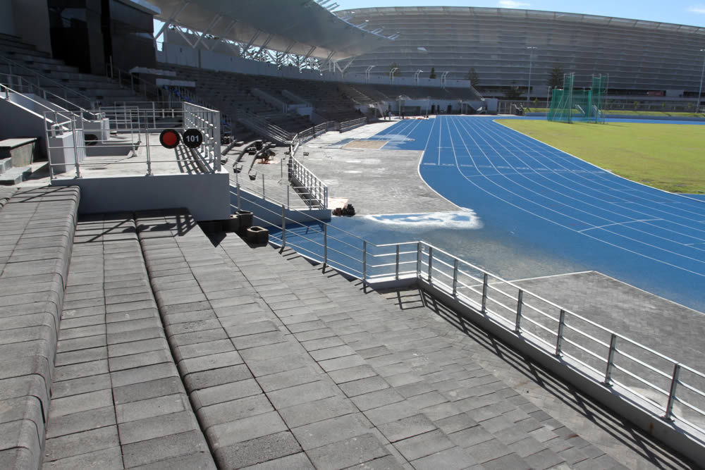 Seapoint Stadium seating along the bottom tier
