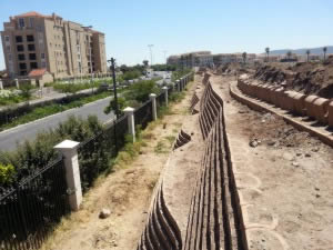 Current retaining wall extension