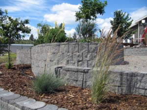 Undulating landscaping measures