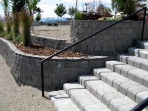 Terralite block with 4 x 4 step block