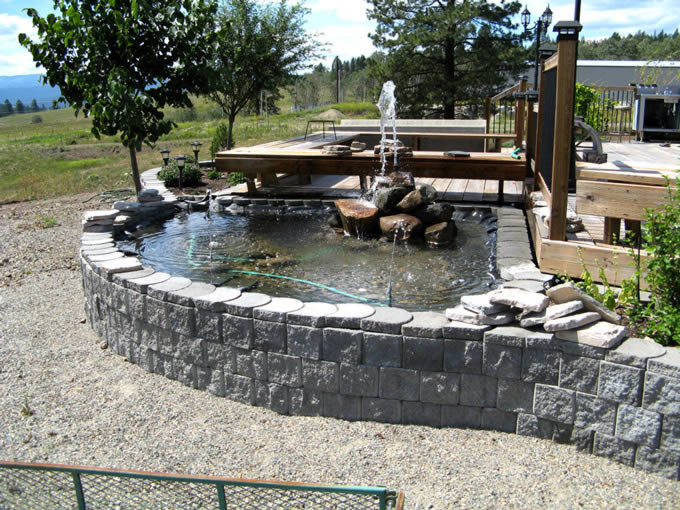 Water feature, Terralite block