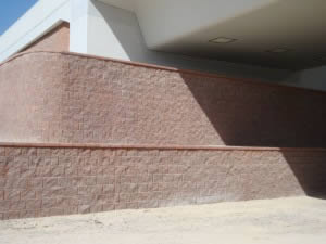 Vertical wall acting as brigde abutment wall in Mirdiff