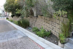 Creating green pockets with retaining walls