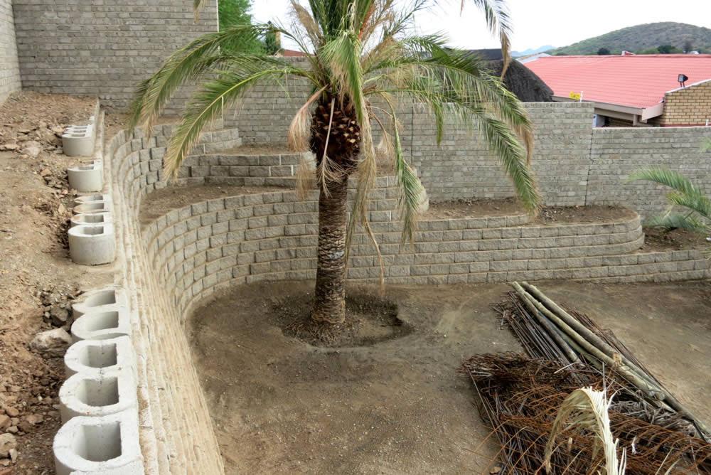 house burger backyard retaining walls terraforce
