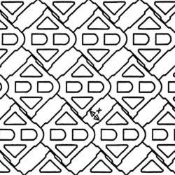 Terracrete pattern, unidirectional extended