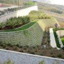 Beautifully landscaped retaining wall in Istanbul