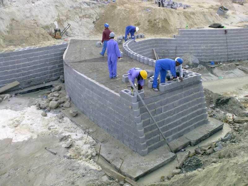 Boat ramp under construction