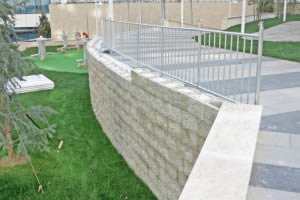 Vertical retaining wall