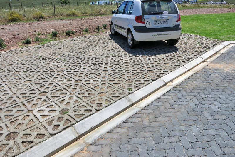 The pavers allow storm-water to drain effectively